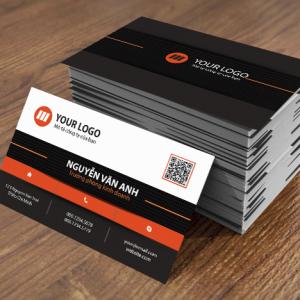 in ấn name card màu đen